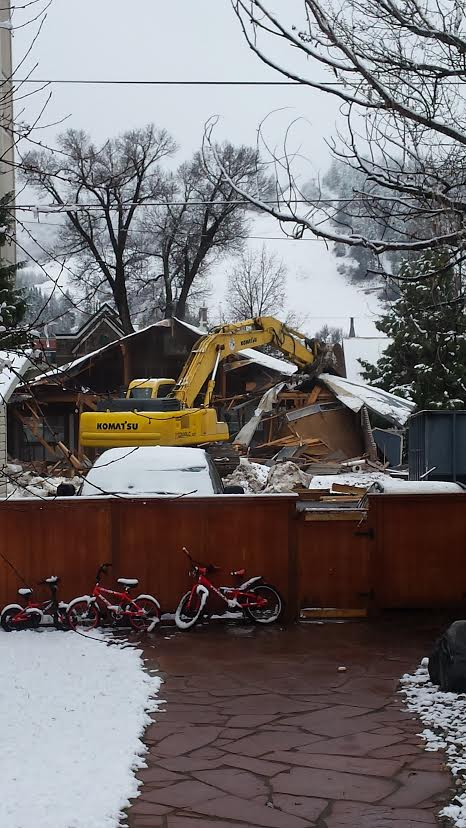 """Goodbye Comunidad building!"" Submitted by Mike Diemer."