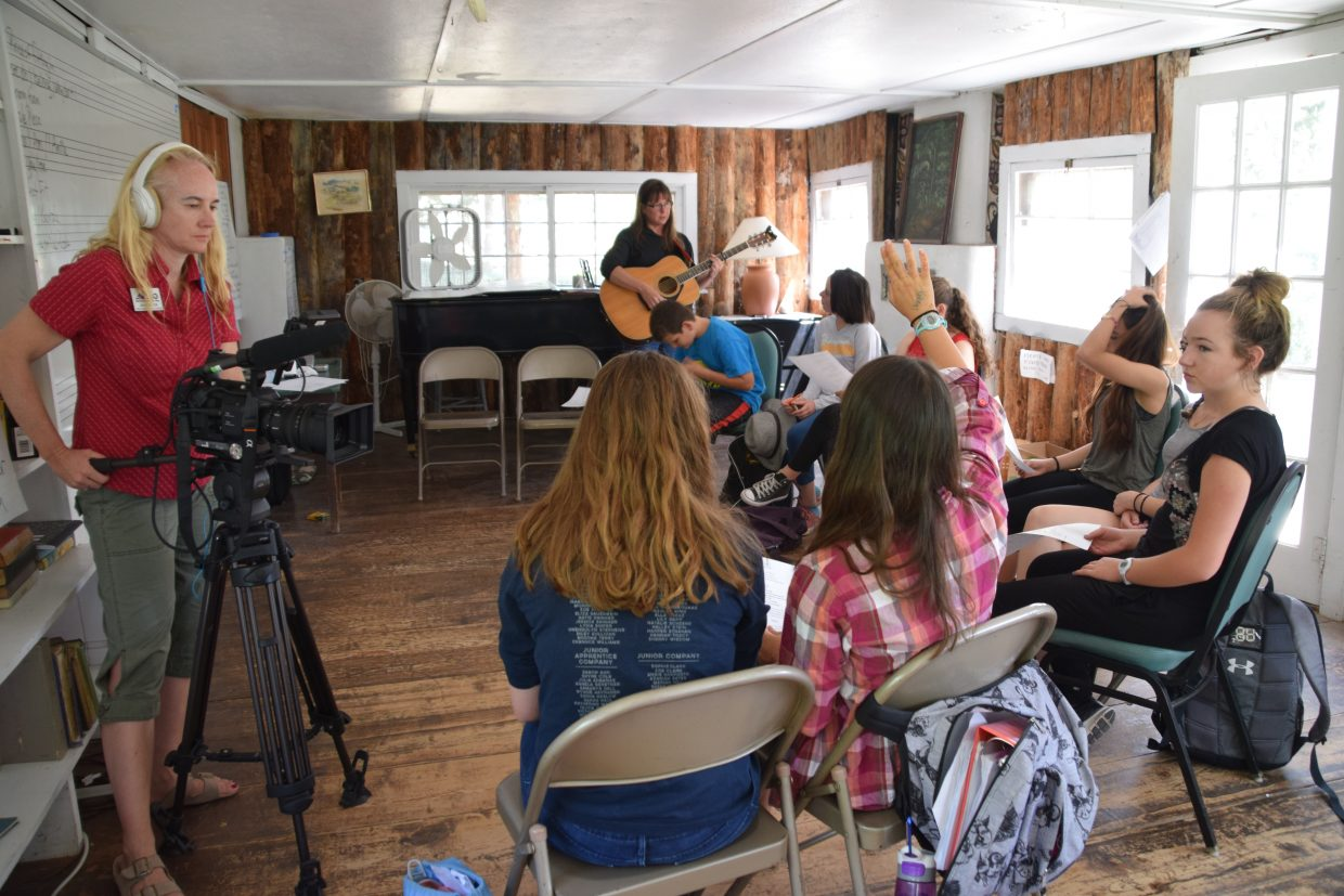 The producers of the Colorado Experience film a songwriting class at Perry-Mansfield Performing Arts School and Camp.