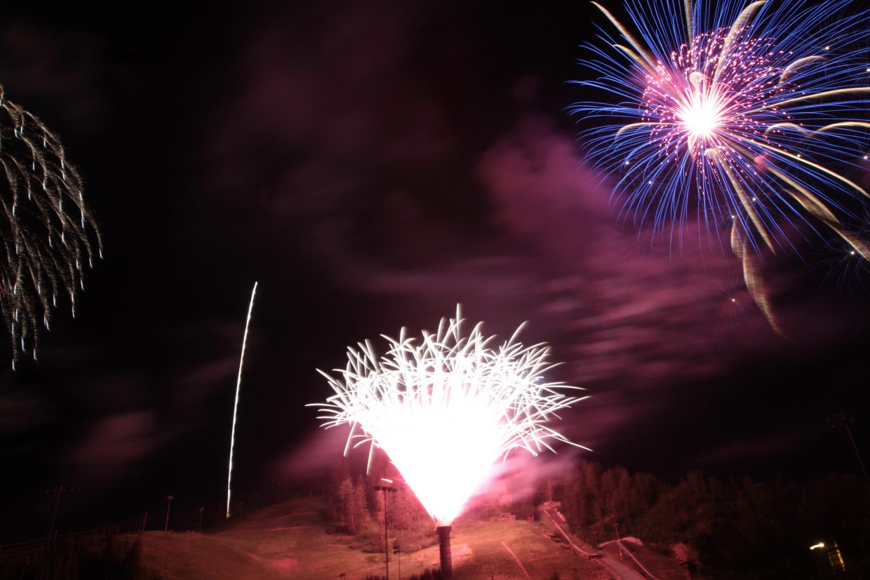 4th of July Fireworks at Howelsen Hill. Submitted by AJ Summers.