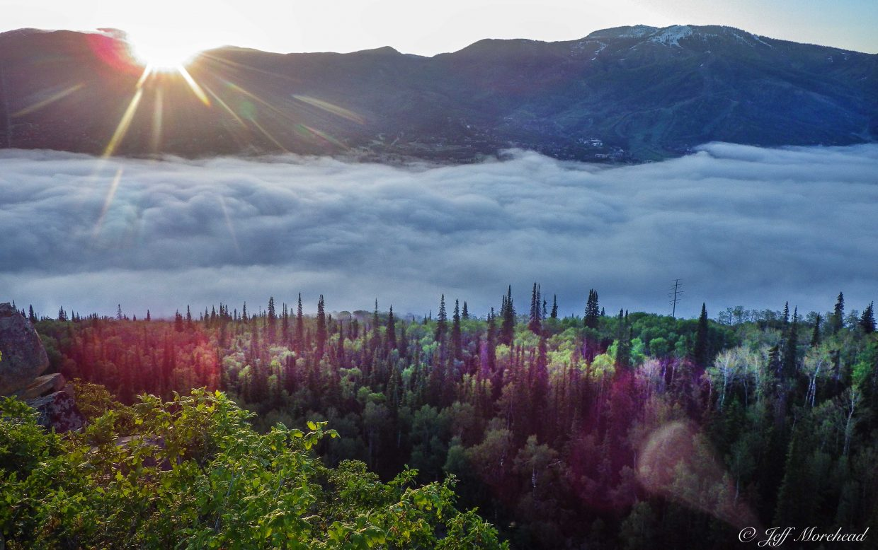 Emerald Mountain quarry overlook at 6 a.m. Monday. Submitted by: Jeff Morehead