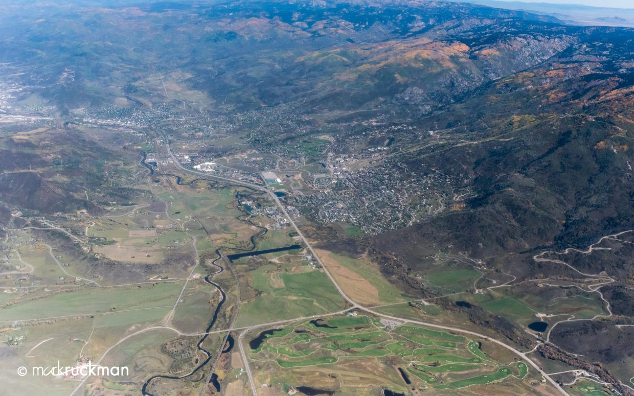A view of the Yampa Valley, Steamboat, Haymaker from high above the valley. Submitted by Mark Ruckman.