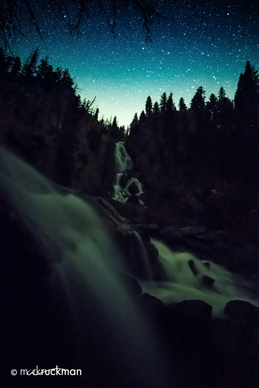 Photo was shot last night at Fish Creek falls where the North Fork of Fish Creek and Fish Creek merge. Submitted by: Mark Ruckman