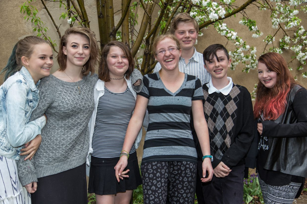 Emerald Mountain School students celebrated their eighth-grade graduation June 9. Graduates of the Class of 2015 are Maya Kissane, Delaney Ziegman, Marjorie Hellyer, Macayla Scheidt, Gabe Everard, Miles Borden and Mariam Worster. Submitted by Deborah Gooding.