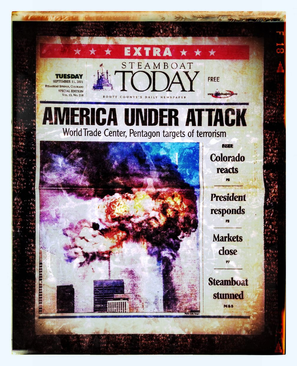 I still have this paper from 13 years ago... I know exactly where I was, and remember it as if it were yesterday.... Never Will We Forget. Submitted by Pete Kopischke.