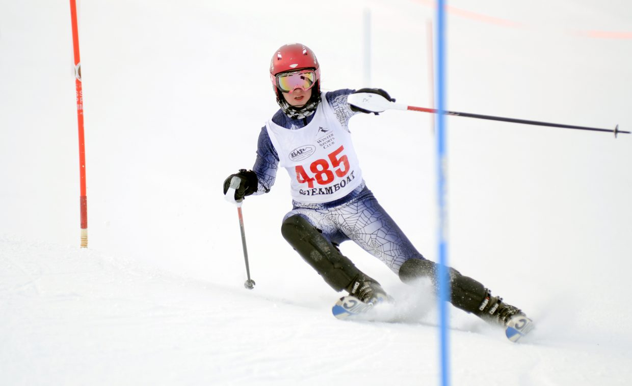 Lindsey Adler won the Skimeister competition at state skiing in late February, and was on the all-state slalom team.