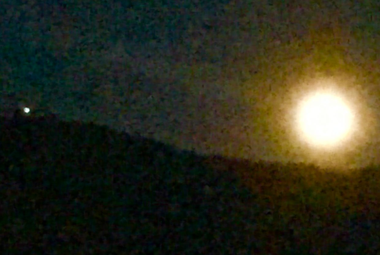 Strawberry moon and gondola. Submitted by Ann Ross.