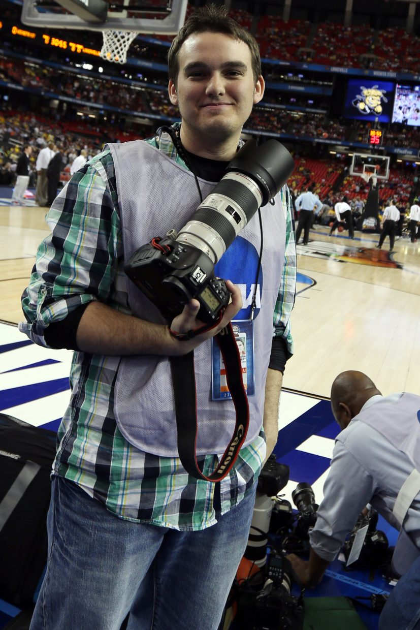 Steamboat Today reporter and photographer Austin Colbert was able to cover the 2013 Final Four in Atlanta while attending Wichita State University.