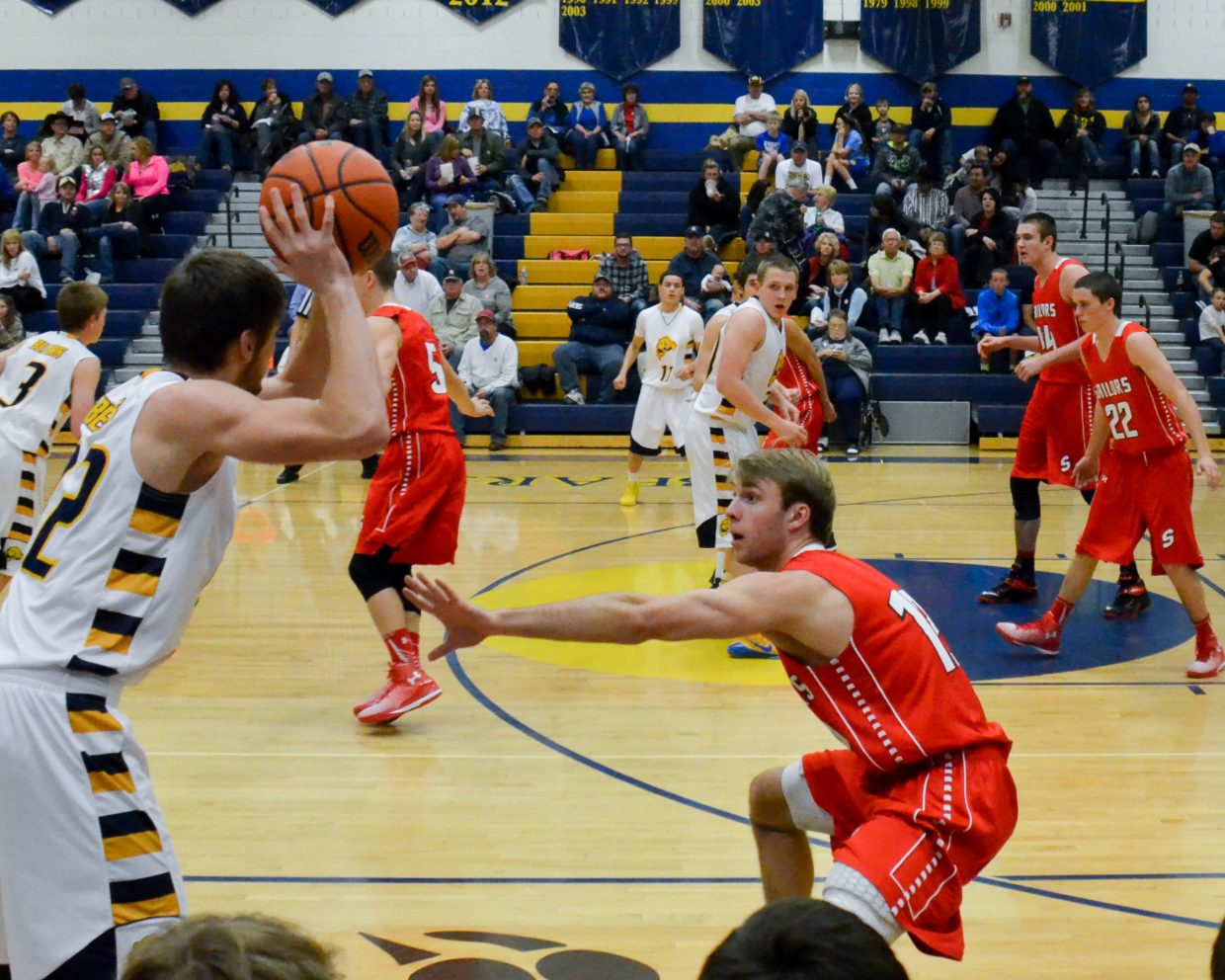 Nathan DePuy plays strong defense against Rifle in the Sailor's victory. Submitted by: Jan DePuy