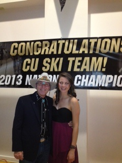 Steamboat's Director of Skiing Billy Kidd caught up with U of Colorado freshman (and cross-country skier) Lucy Newman at a recent CU Ski Team fundraiser. The duo have long history: Lucy's mom, Lynn, was Kidd's longtime office assistant at SSRC right up until the time Lucy was born. Submitted by: Hollis Brooks