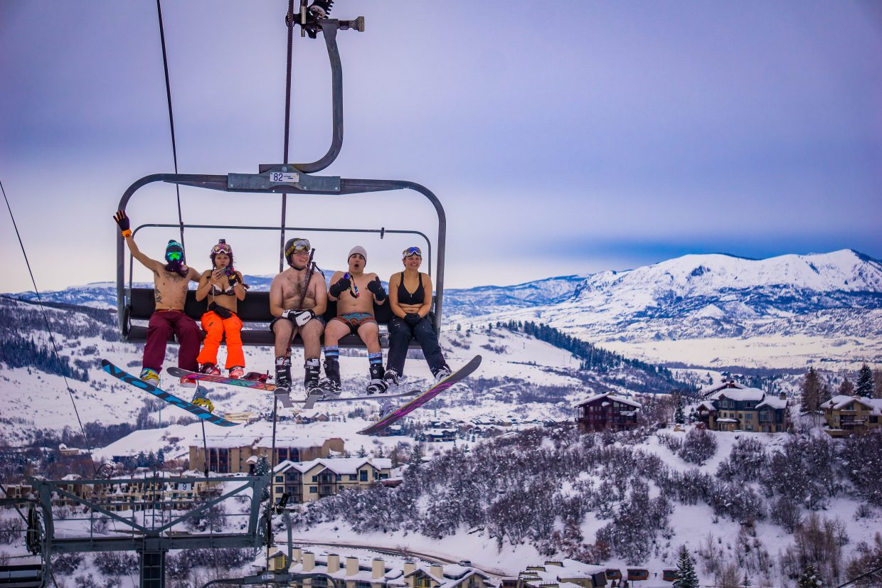 Bare Skinned Skiers. Submitted by Toby Leeson.
