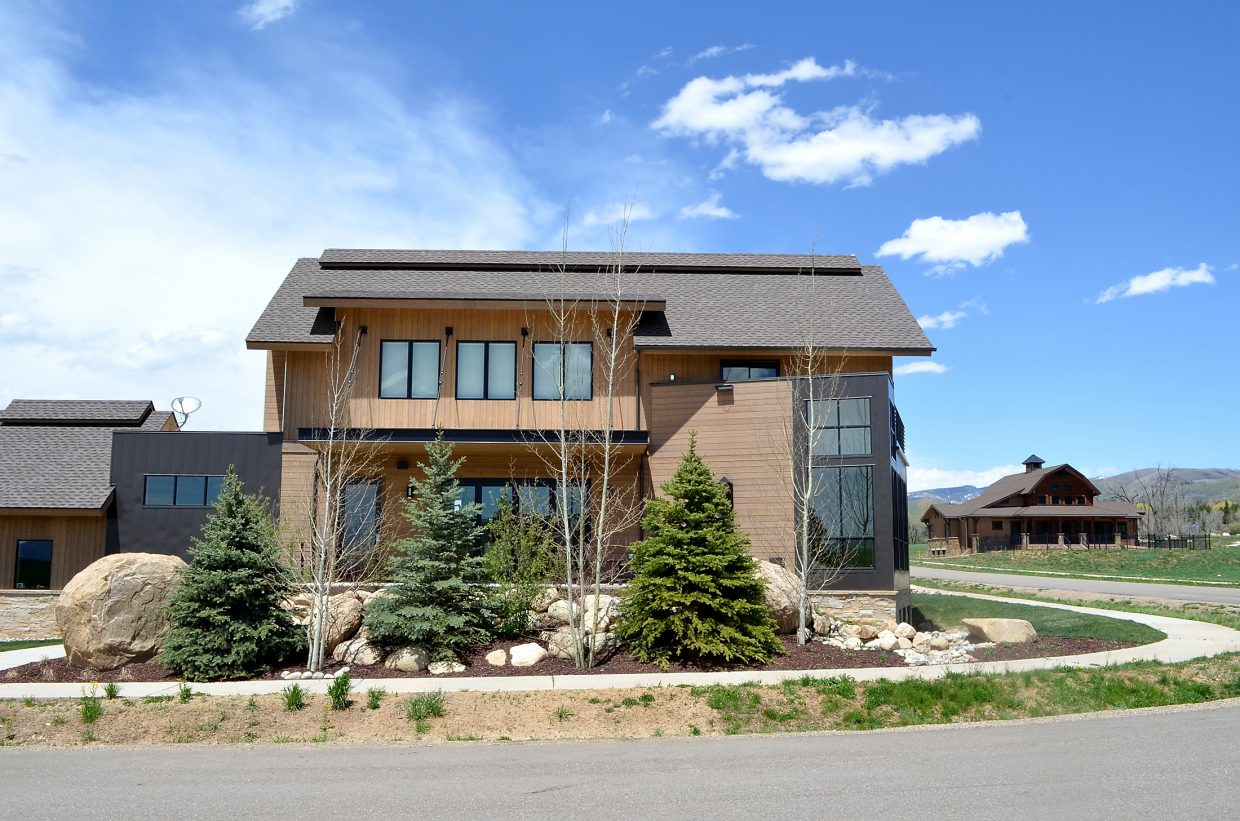 A completed single-family home at the Barn Village at Steamboat subdivision is shown in this 2013 file photo. After a rocky start, the subdivision is now one of the most thriving areas for new constructions in the city.