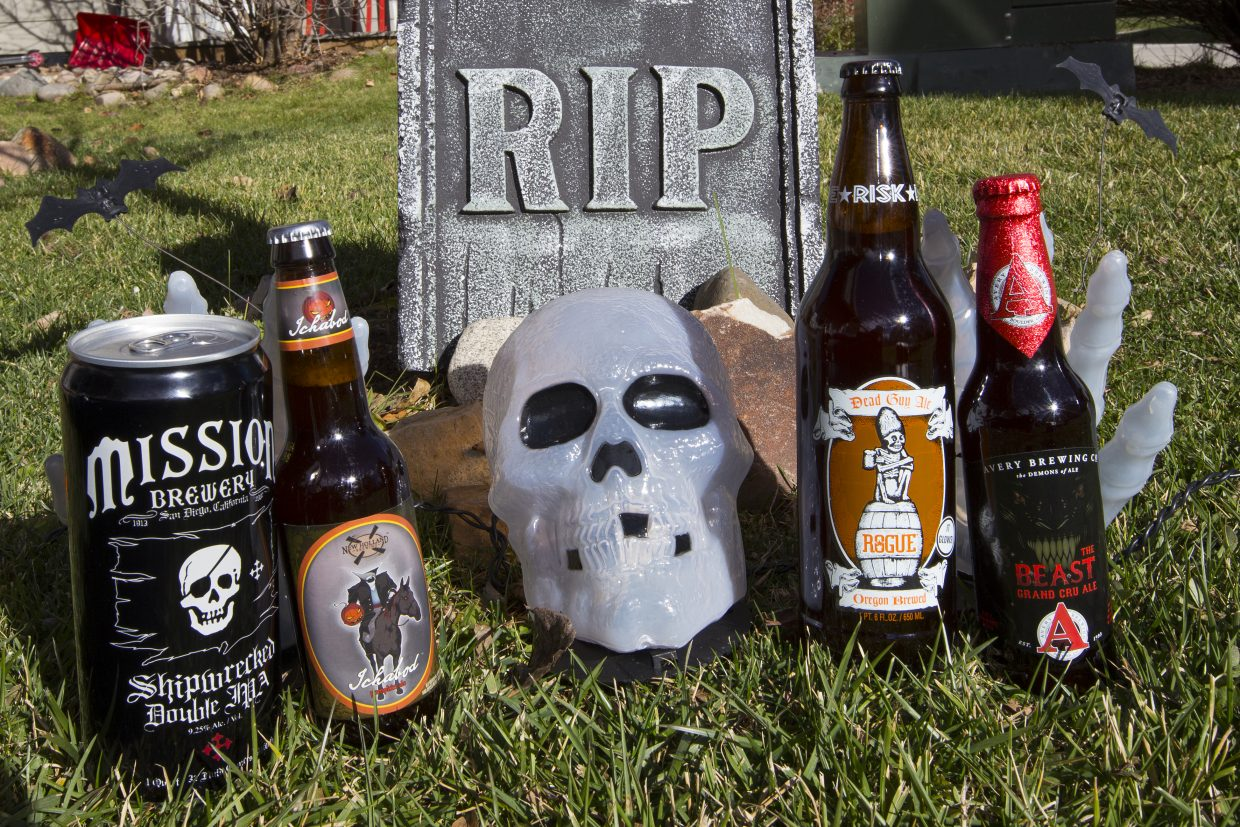 Beer writer, Dan Tullos wrote about Halloween themed brew this week. Those include: Rogue's Dead Guy Ale, New Holland's Ichabod Pumpkin Ale, Avery Brewing Co.'s The Beast Grand Cru Ale, and Mission Brewing's Shipwrecked Double IPA.