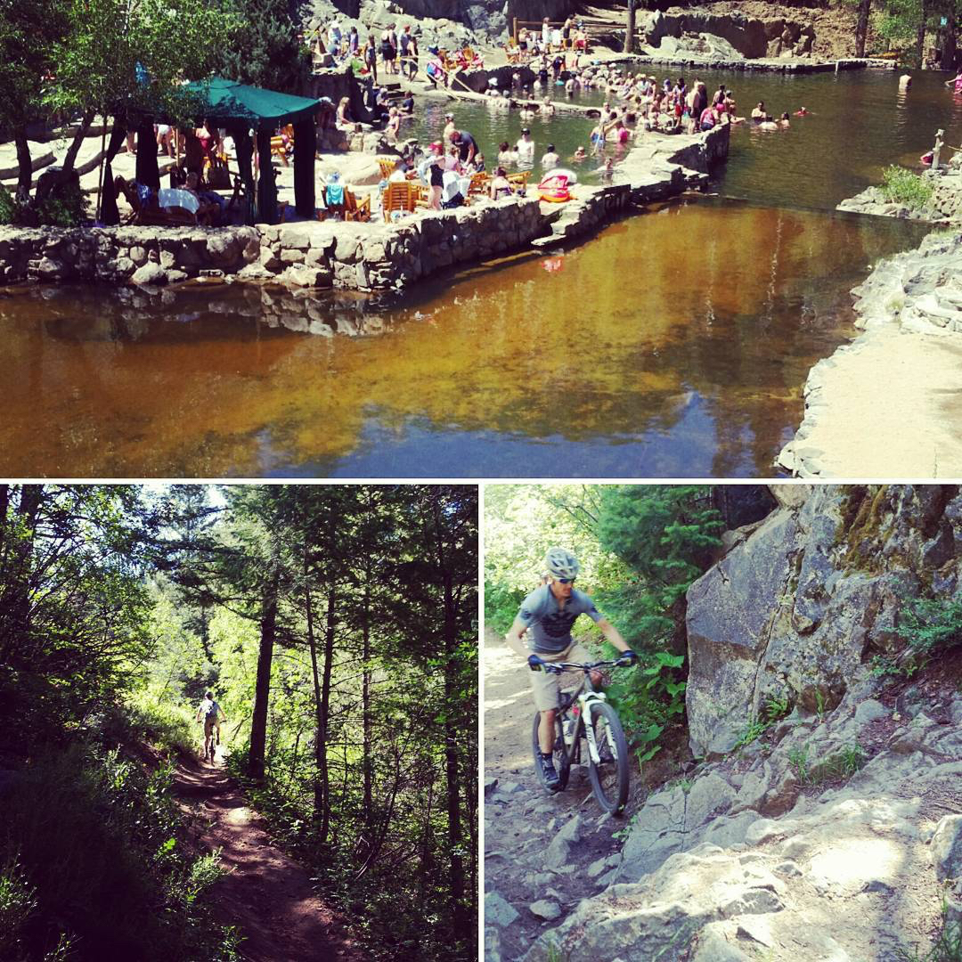 Today, we rode our bikes to Strawberry Park Hot Springs, soaked and swam and rode back home. It was magical. @sydneysees