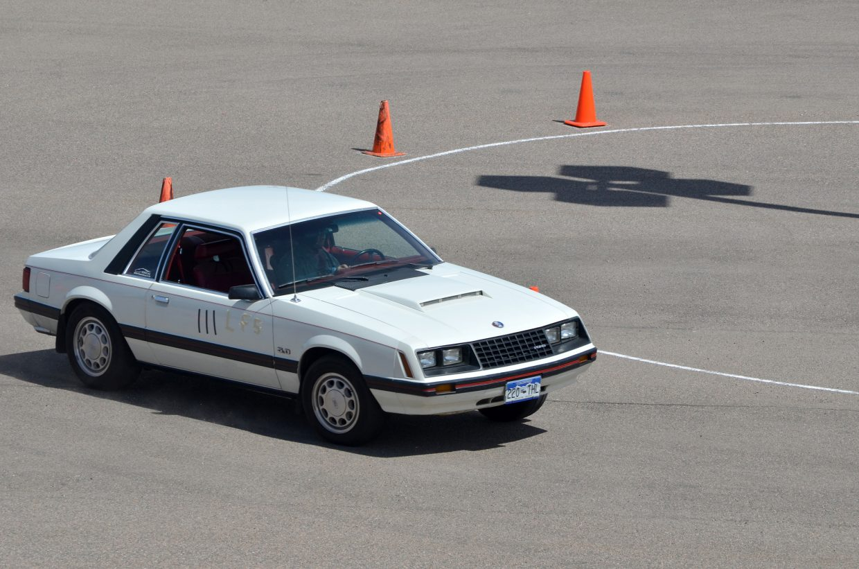 Bill Distel's 1982 Mustang, built on a Fox chassis, proved it mettle during the Spring Autocross-Mustang Warmup at the Sill-TerHar Motors parking lot in Broomfield on May 4.