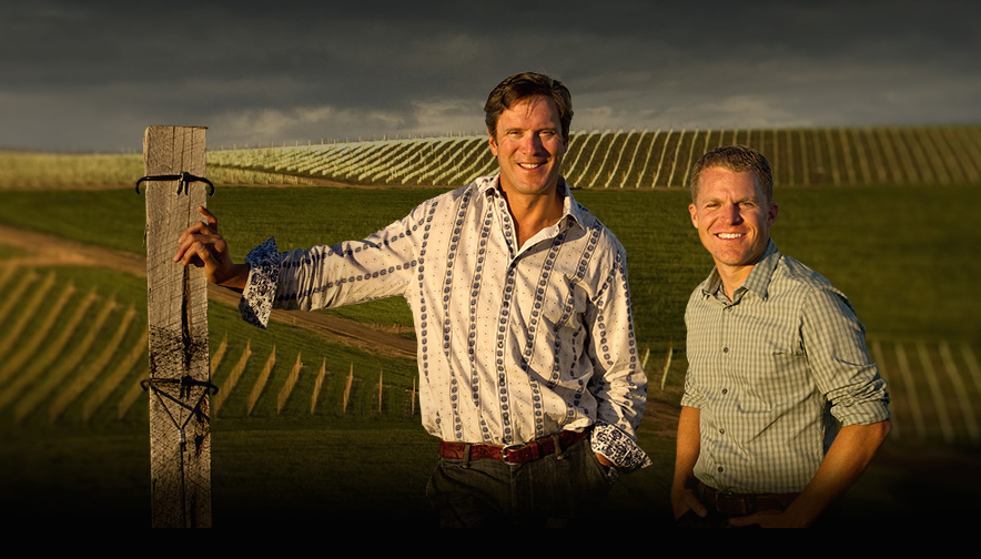 Chris Figgins from Leonetti Cellar and former Super Bowl quarterback Drew Bledsoe, right, of DoubleBack Wines will speak to guests about their unique selection of Walla Walls Valley wines during wine pairing dinners at The Home Ranch Friday and Saturday nights.
