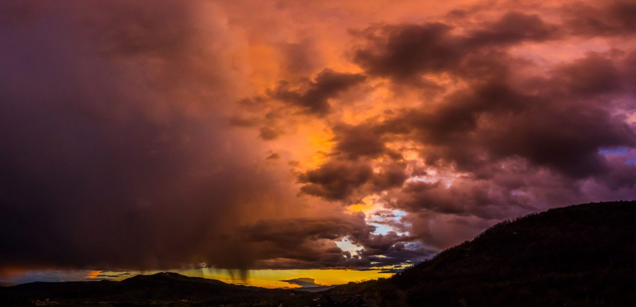 """""""Stormy sunset over Steamboat."""" Submitted by Brendan Durrum."""