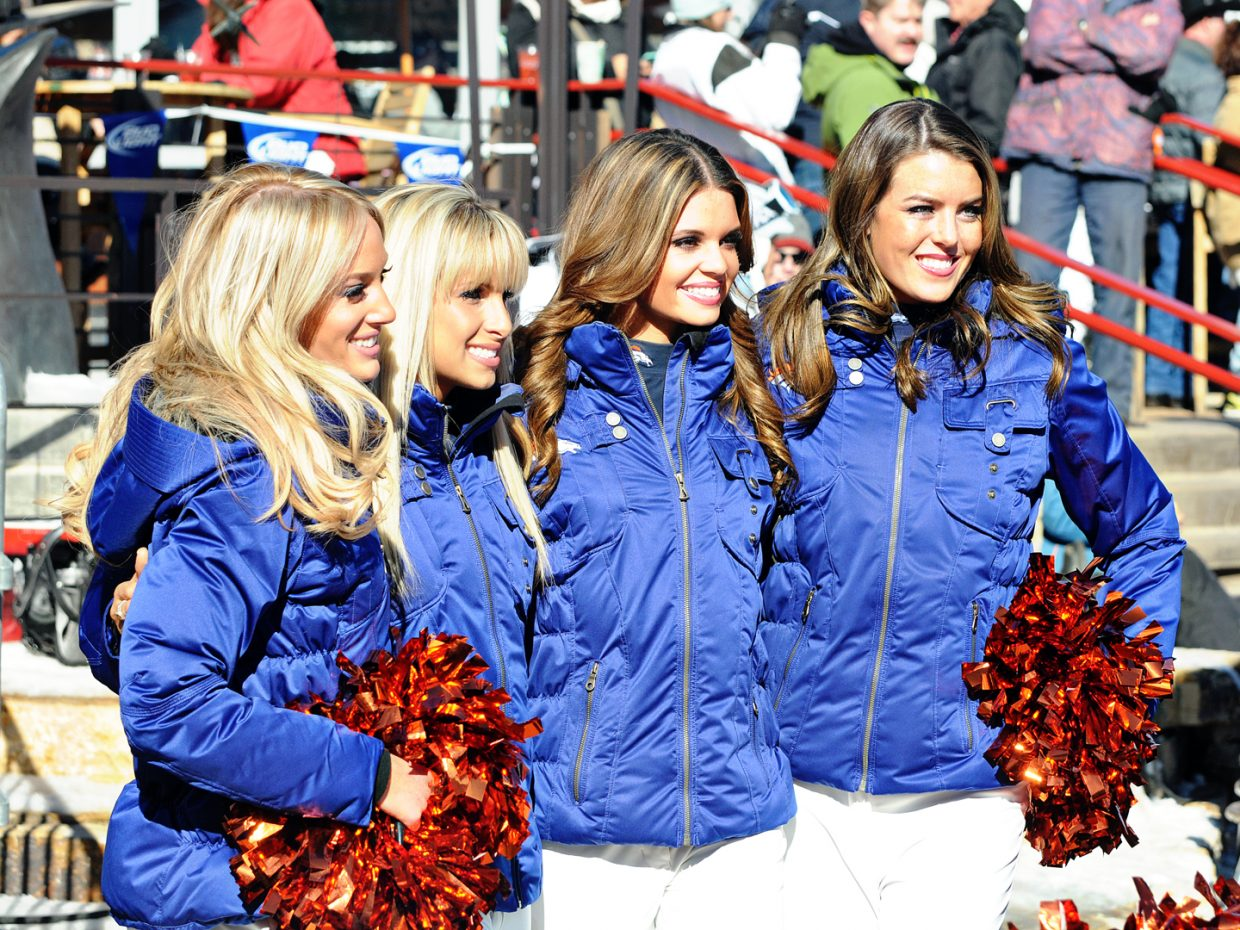 The Denver Broncos cheerleaders. Submitted by: Jeff Hall