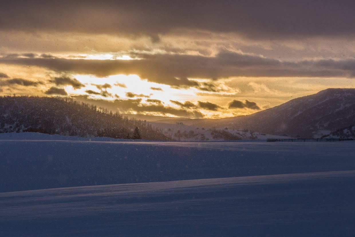 Sun through the snow. Submitted by: Carolyn Culp
