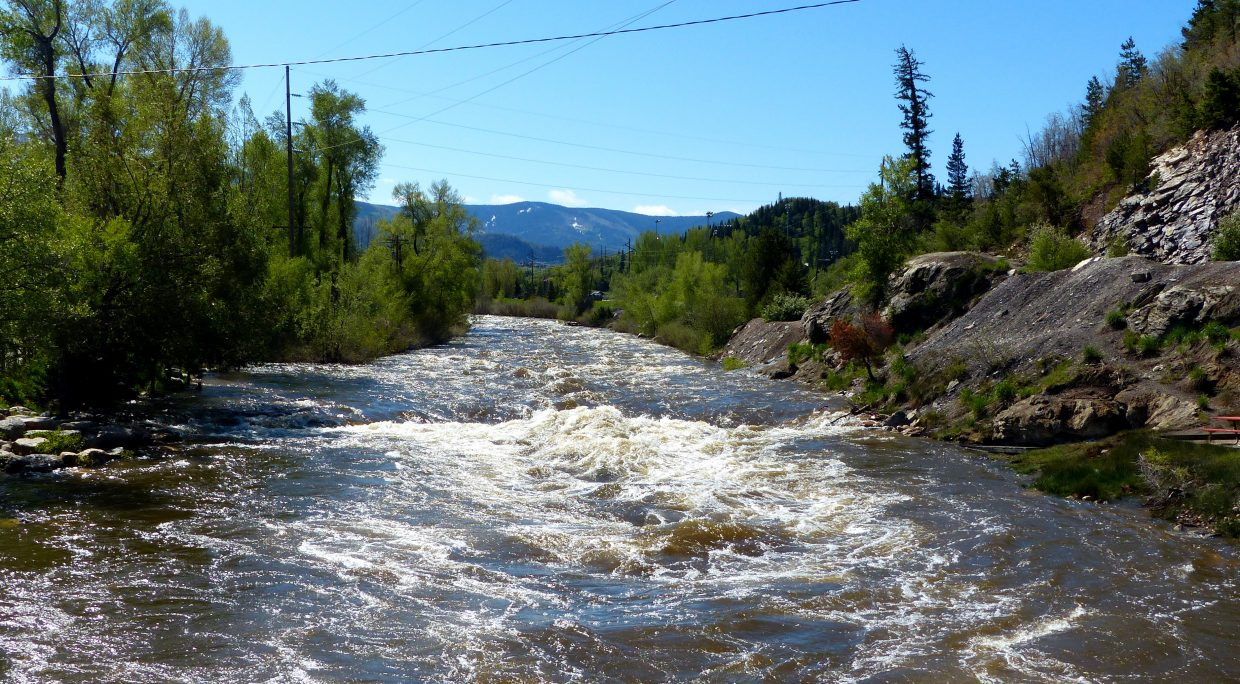 This is the C-Hole in Steamboat, which is next to the library. When the water recedes, kids play in the water here all summer long. Submitted by: Shannon Lukens