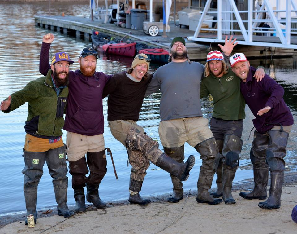 """Canoeing from the Gulf of Mexico to the Arctic Ocean, these six men embarked on their """"Rediscovering North America"""" expedition Jan. 2. From left, are Winchell Delano, Adam Trigg, Luke Kimmes, John Keaveny, Jarrad Moore and Daniel Flynn."""