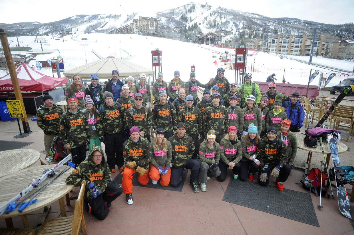 Manic Training athletes ready to load the gondola for Saturday's Cody's Challenge at the Steamboat Ski Area.