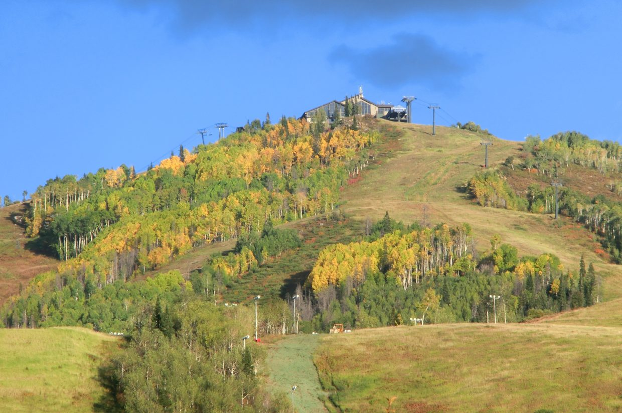 Fall colors at Mount Werner. Submitted by: Carlos Oliveira