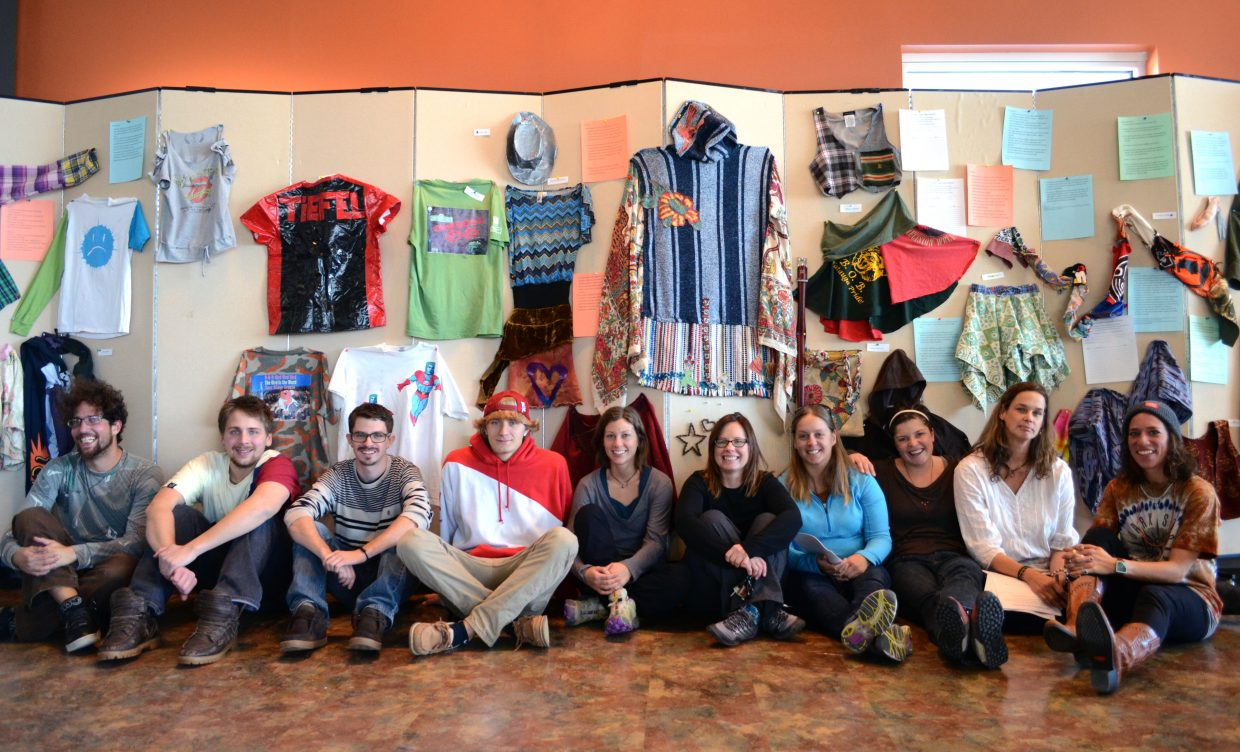 The students in Colorado Mountain College's art and sustainability class showed off their final products during a fashion exhibit Thursday.