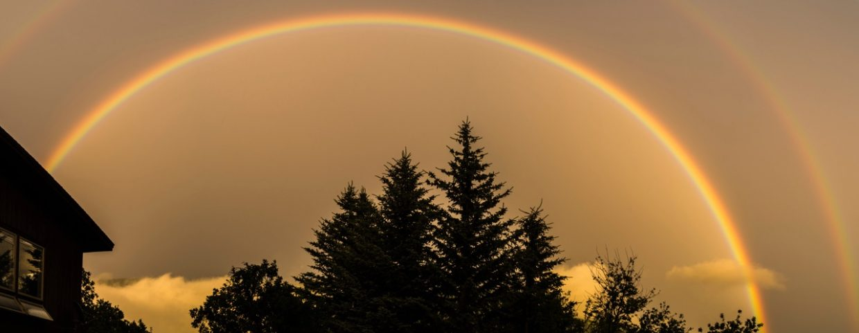 Double Rainbow on Sunday as seen from Ridge Road Submitted by Fred Hodder.