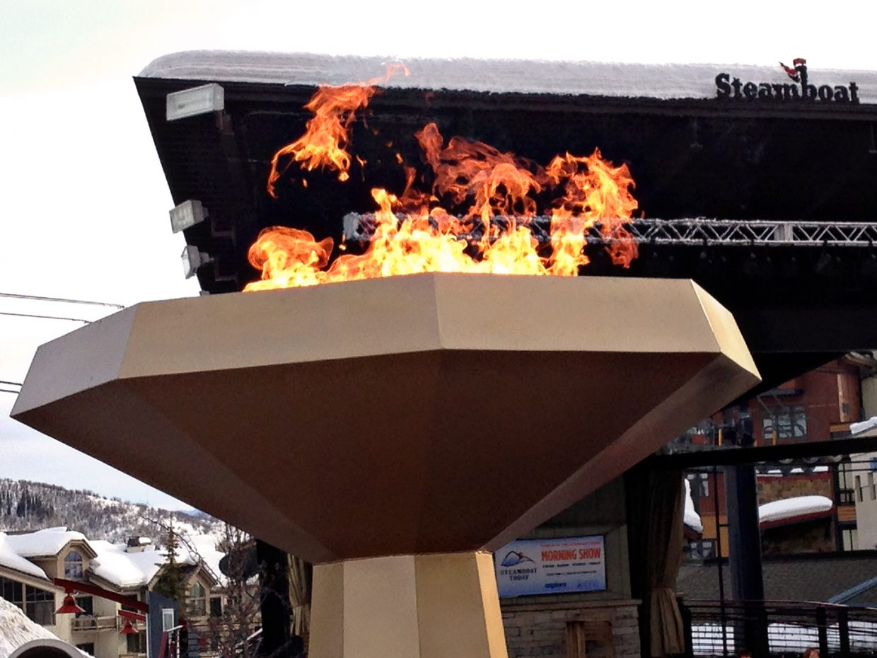 Community cauldron in Gondola Square. Submitted by: Jeff Hall