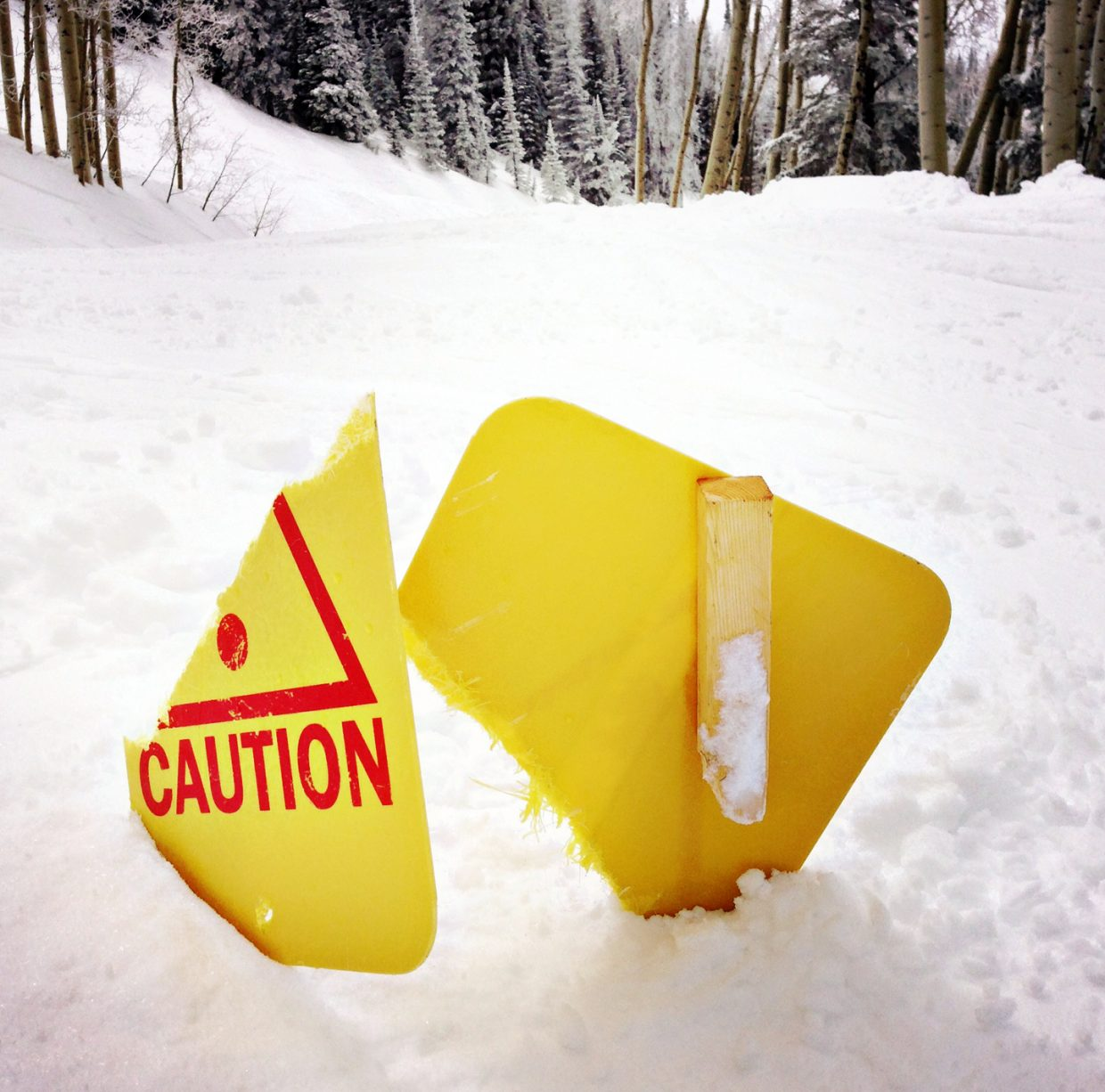 Please don't trip over caution sign. Submitted by: Jeff Hall
