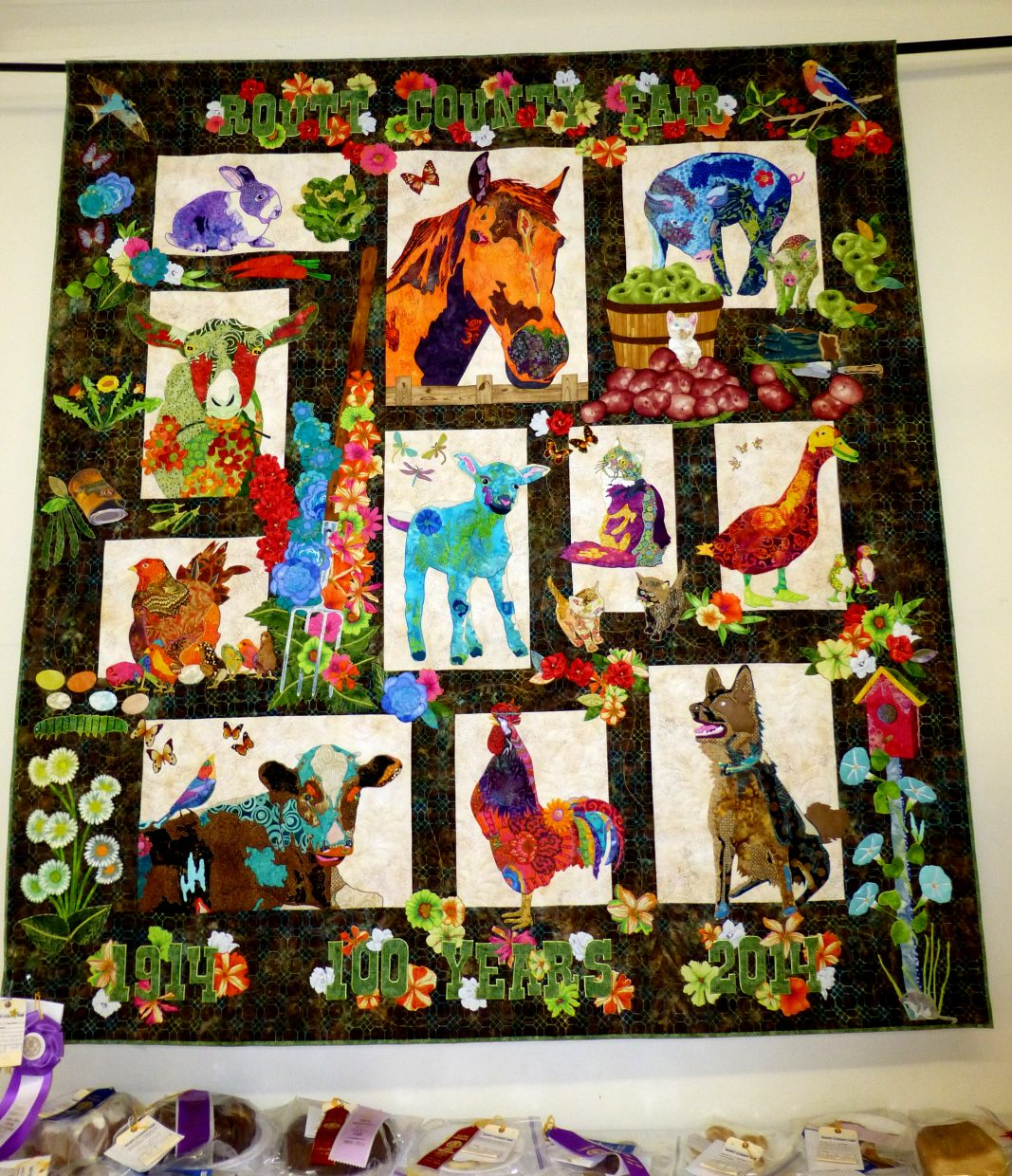 Centennial quilt. Submitted by Gail Hanley.