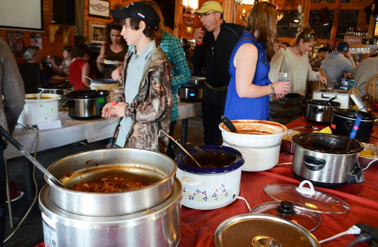 Proceeds from the Annual North Routt Chili Cook Off go toward the North Routt Preschool and the North Routt Community Charter School. Dozens of different types of homemade chili are available for patrons at Hahn's Peak Roadhouse each spring.