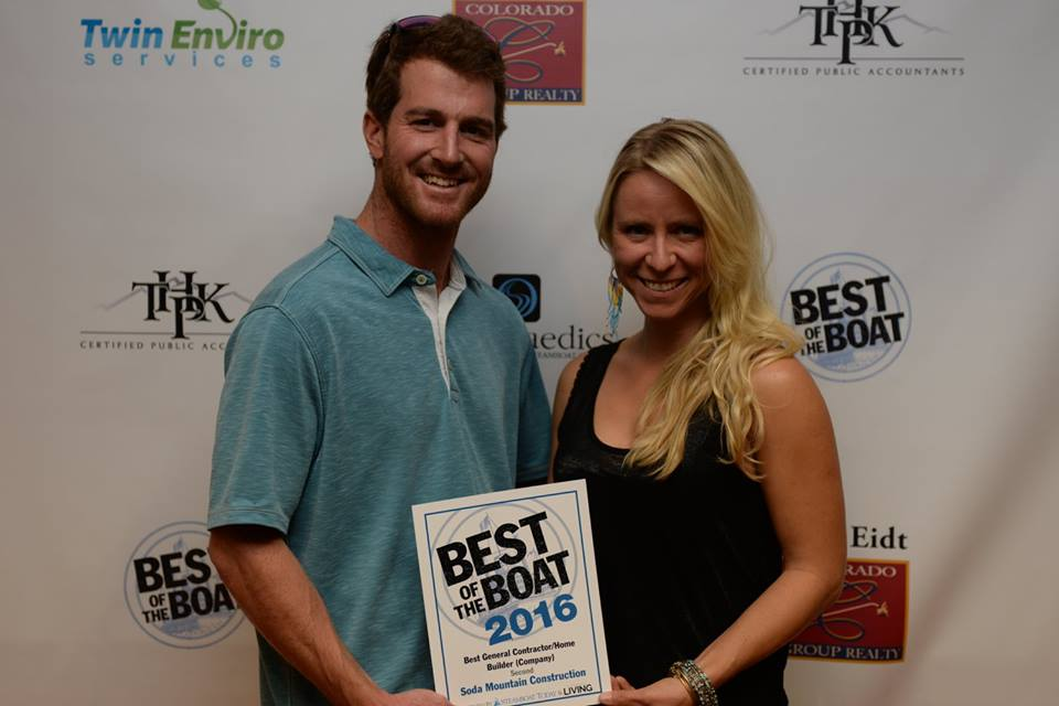 Chris and Mara Rhodes of Soda Creek Construction, Best of the Boat winner.