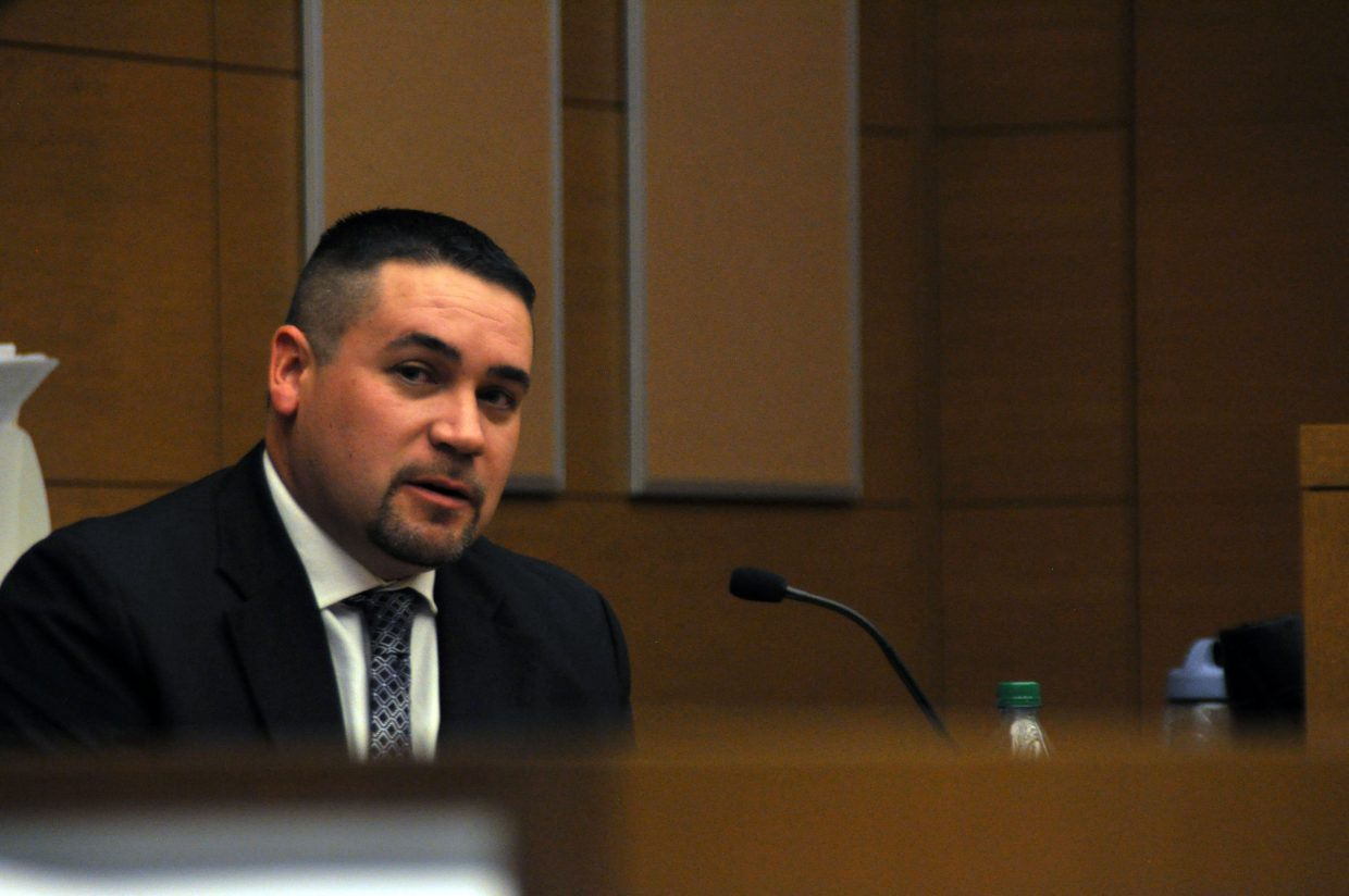 Routt County Sheriff's Office detective Tom Munden was called to the stand Wednesday during Lisa Lesyshen's preliminary hearing in Denver.
