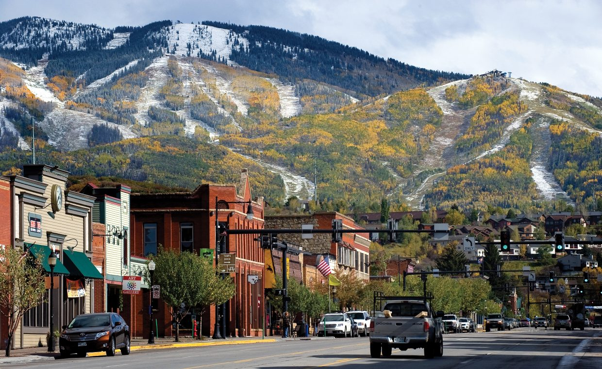 Historic downtown Steamboat Springs.