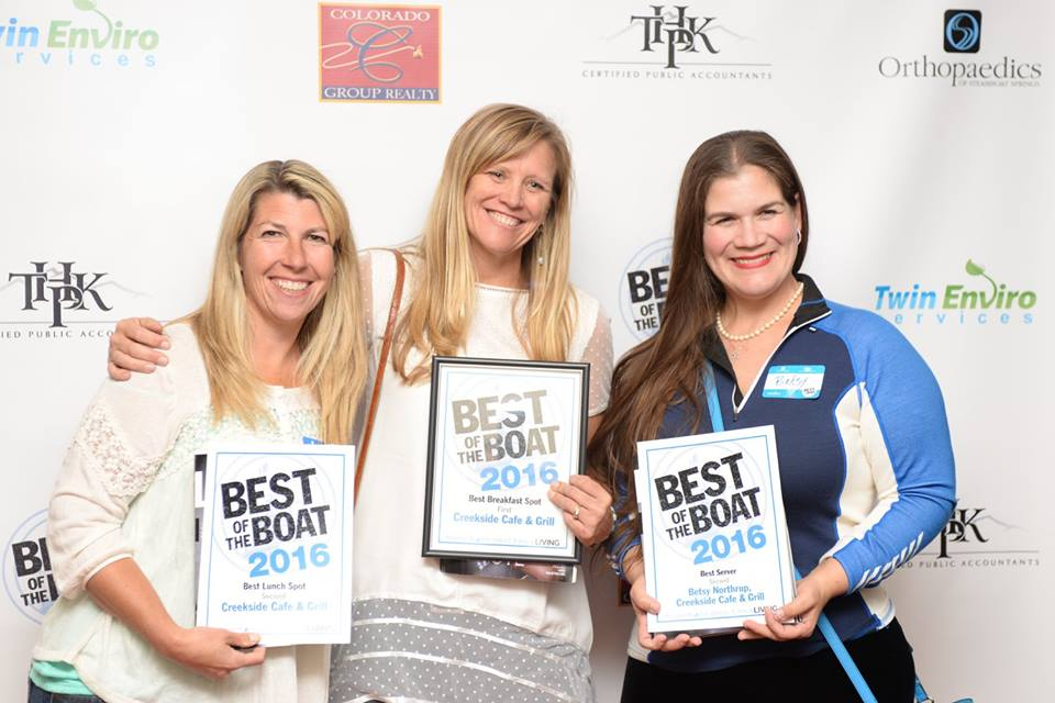 Kelly Landers and the Creekside Cafe & Grill crew earn numerous 2016 Best of the Boat awards.