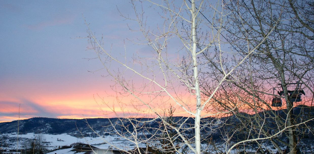 Steamboat sunset. Submitted by: Kristal Eckley
