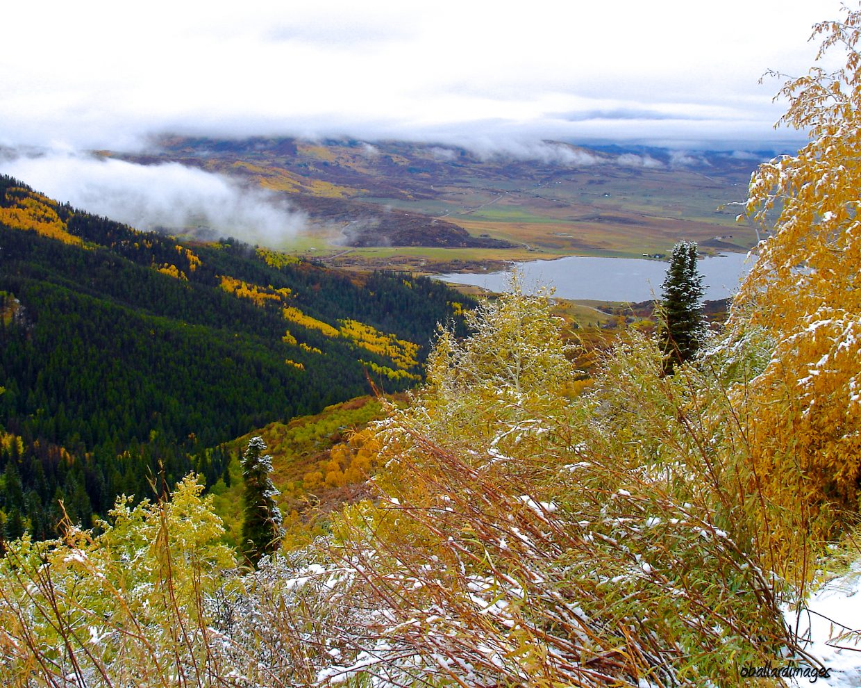 View of Lake Catamount from Rabbit Ears Pass on Thursday. Submitted by: Ollie Ballard