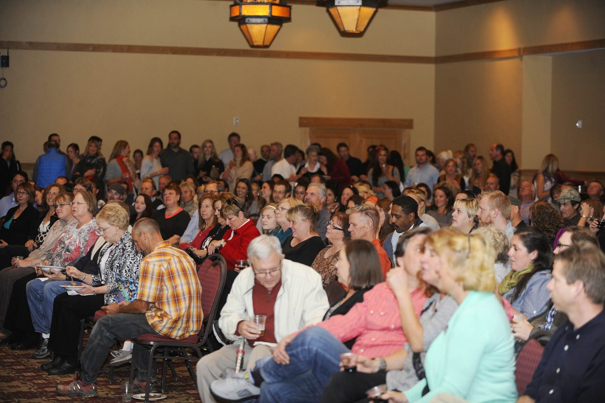 People pack in to The Steamboat Grand for the Best of the Boat awards ceremony and party Thursday night. More than 83,000 votes came in from nearly 4,500 voters who ranked 112 questions in six categories for the annual Steamboat Living's Best of the Boat.