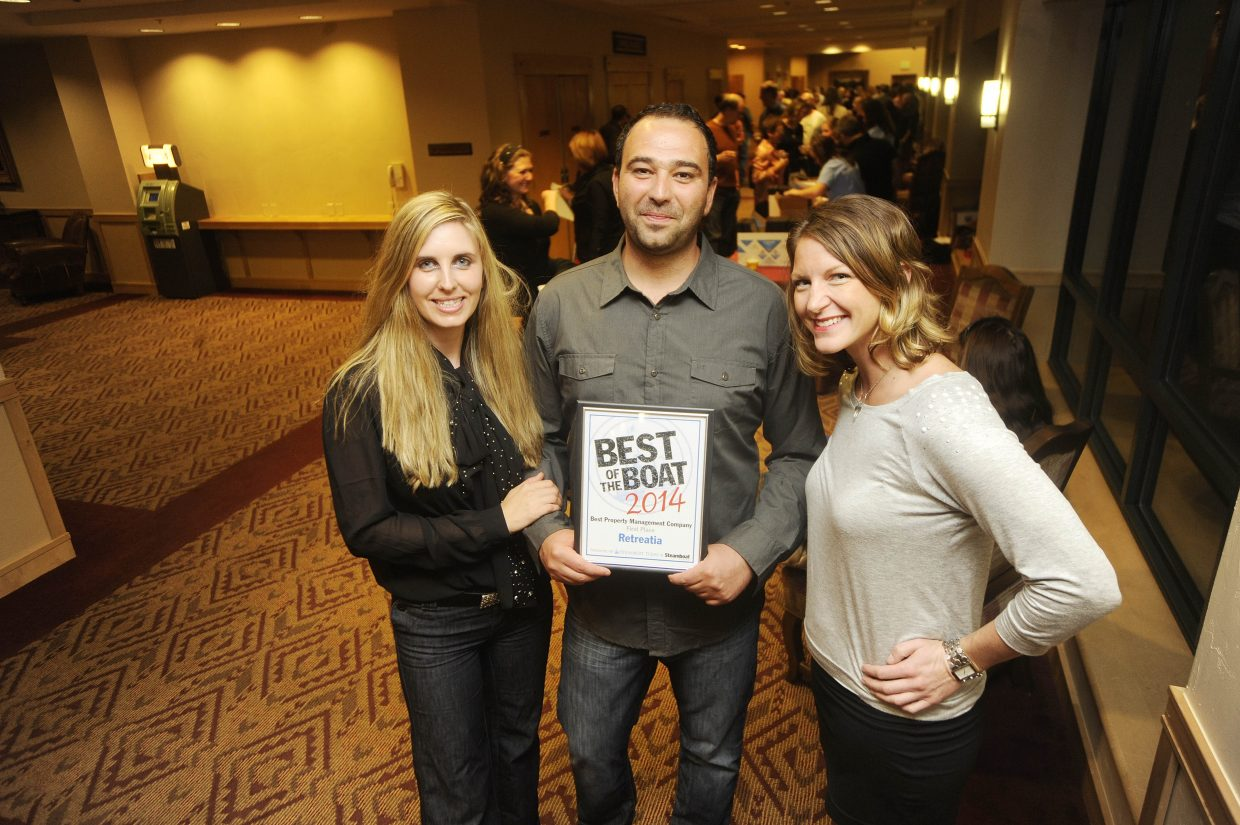 From left, Retreatia.com owners Annie Plocheva and Michael Stoyanov and vacation expert Erin Orr.