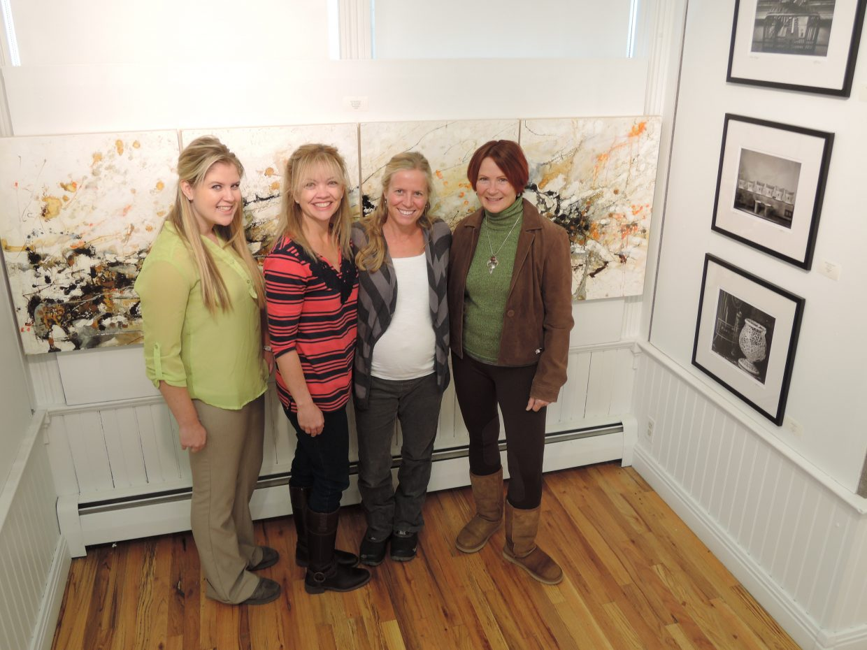 Kendall Yeager, from left, Katy Thiel, Dervla Lacy and Jan Willman are helping put on the inaugural Art & Soul of Hospice show as part of the First Friday Artwalk. The event begins at 5 p.m. Friday and benefits the Northwest Colorado Visiting Nurse Association's Hospice and Palliative care program.
