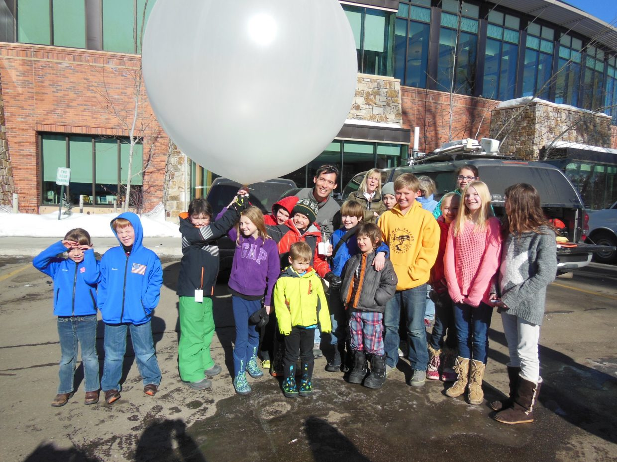 Homeschoolers take a class about weather at Bud Werner Memorial Library from Timothy Lim, project manager at the National Center for Atmospheric Research. Submitted by Robin Stone.