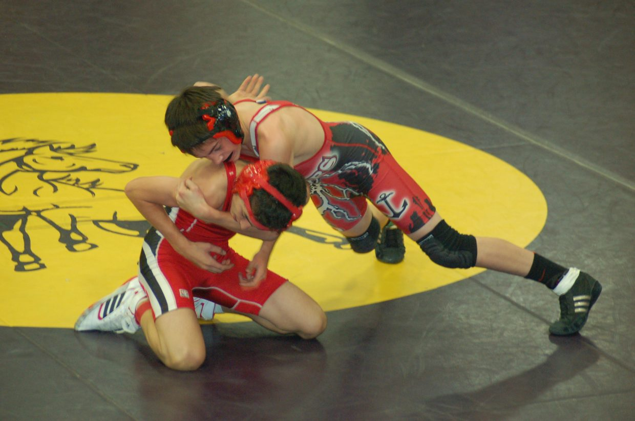 Ethan Labriola competes for Steamboat Springs High School during the West Grand Invitational on Saturday.