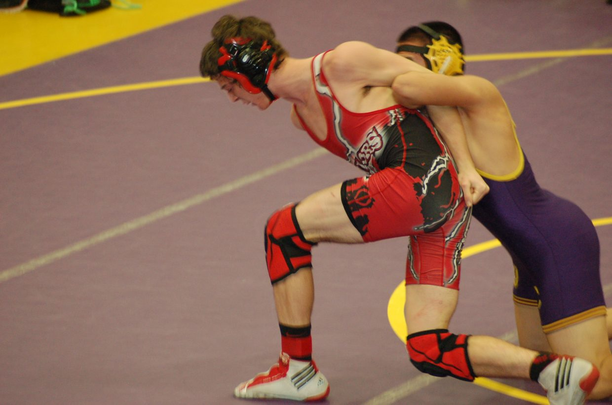 Sailors freshman Matthew Hansen scored seven points for Steamboat in the 138-pound class Saturday at the West Grand Invitational.
