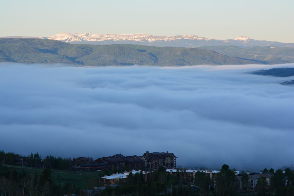 Yampa Valley fog from Ridge Road on Monday morning. Submitted by: Chris Wittemyer