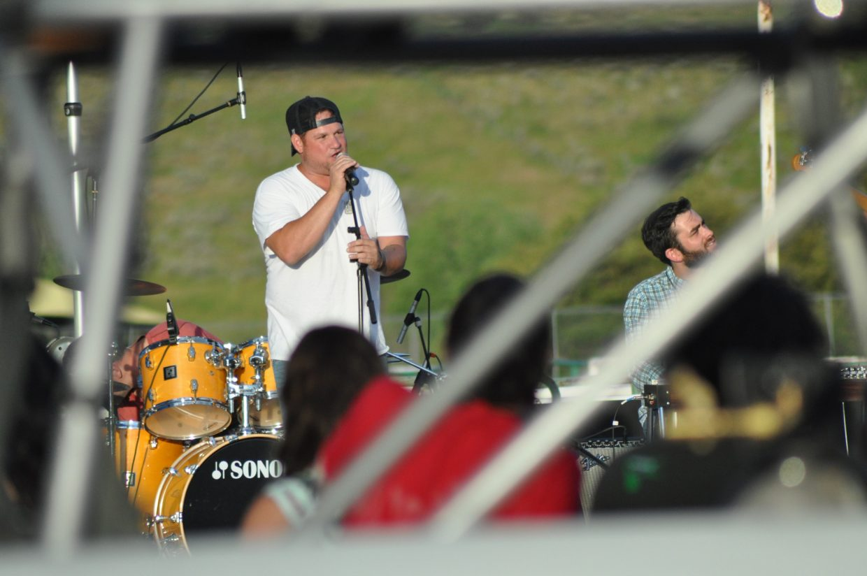 Nashville singer Cef Michael at the 2014 Routt County RedneX Games in Hayden, Colorado. Submitted by: Wendy Lind