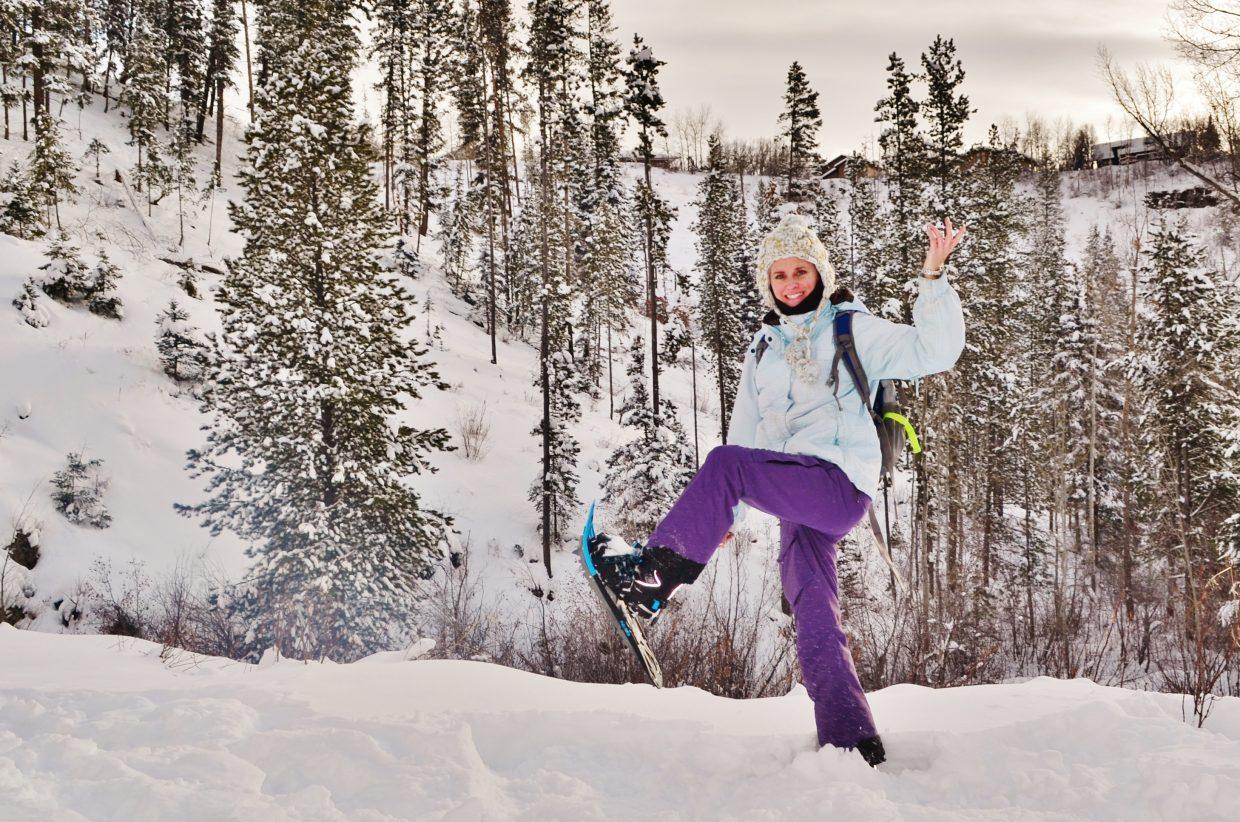 Rebecca enjoys a lovely hike alone on a Sunday afternoon in her new snowshoes along Spring Creek Trail in Steamboat Springs. Submitted by: Rebecca Musso