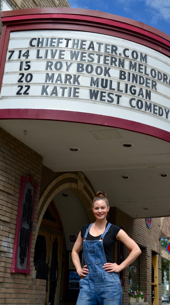 Katie West, a Steamboat native, brings her comedy show, Westward Ho!, to the Chief Theater on Friday.