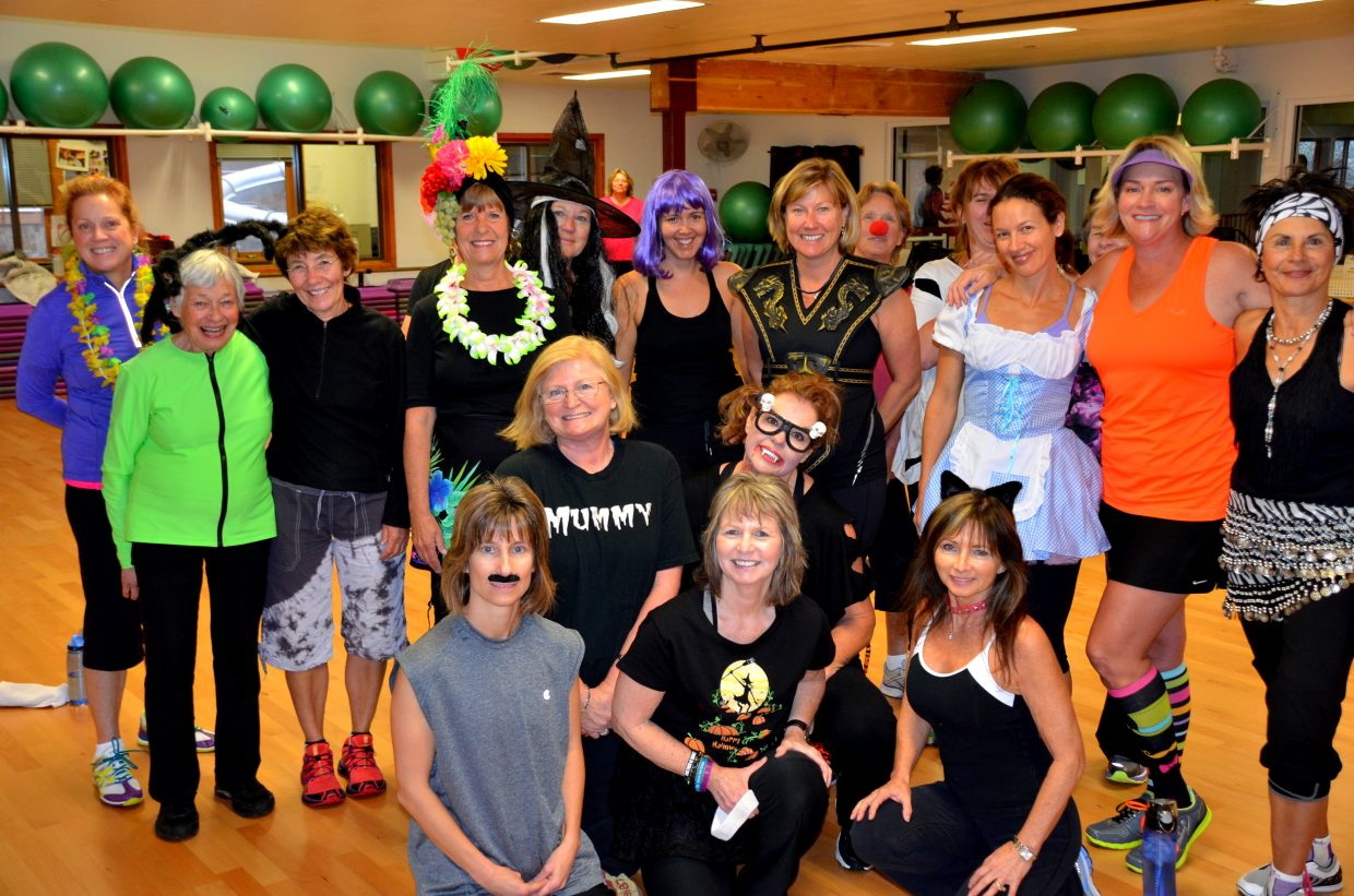 Zumba was wild at Old Town Hot Springs on Halloween! Photos courtesy Shannon Lukens