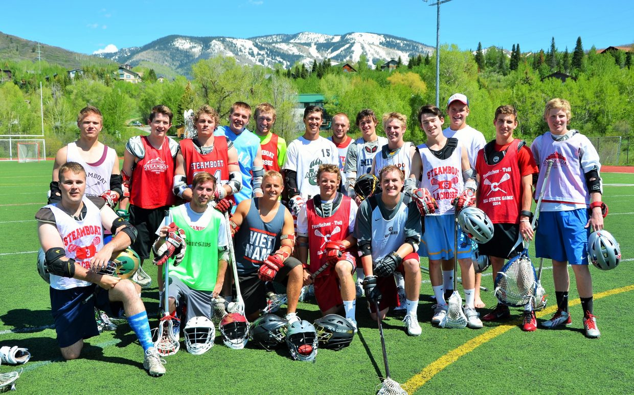 The first Steamboat Alumni & Friends Pick-up Lacrosse was Monday at the Steamboat Springs High School turf field. Submitted by: Shannon Lukens